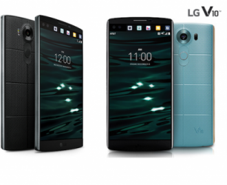 LG Unveils LG V10 2 Displays and 2 Front Cameras With 2TB External Storage